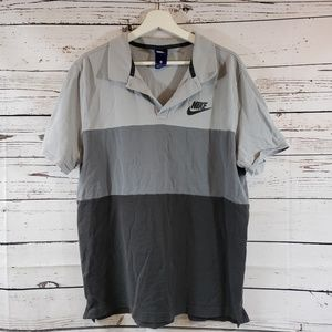 Nike Gray Toned Polo Shirt